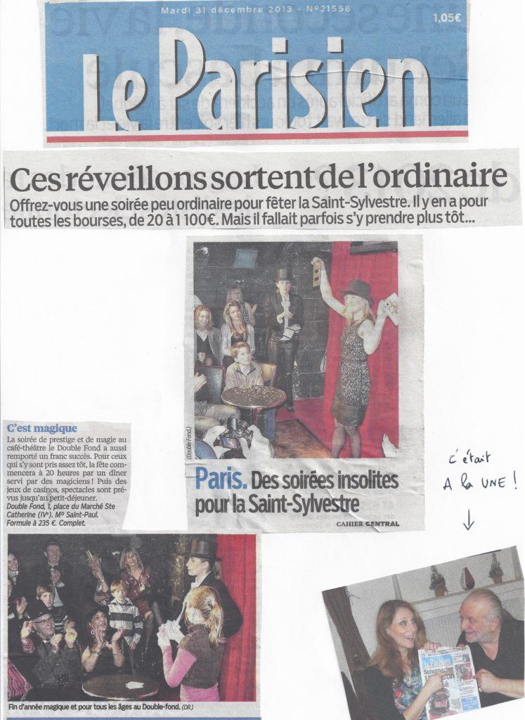 Le Parisien 31 decembre 2013