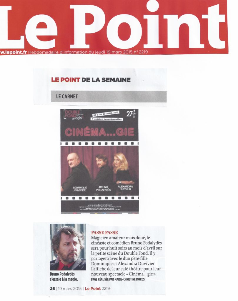 Le Point Cinema...gie
