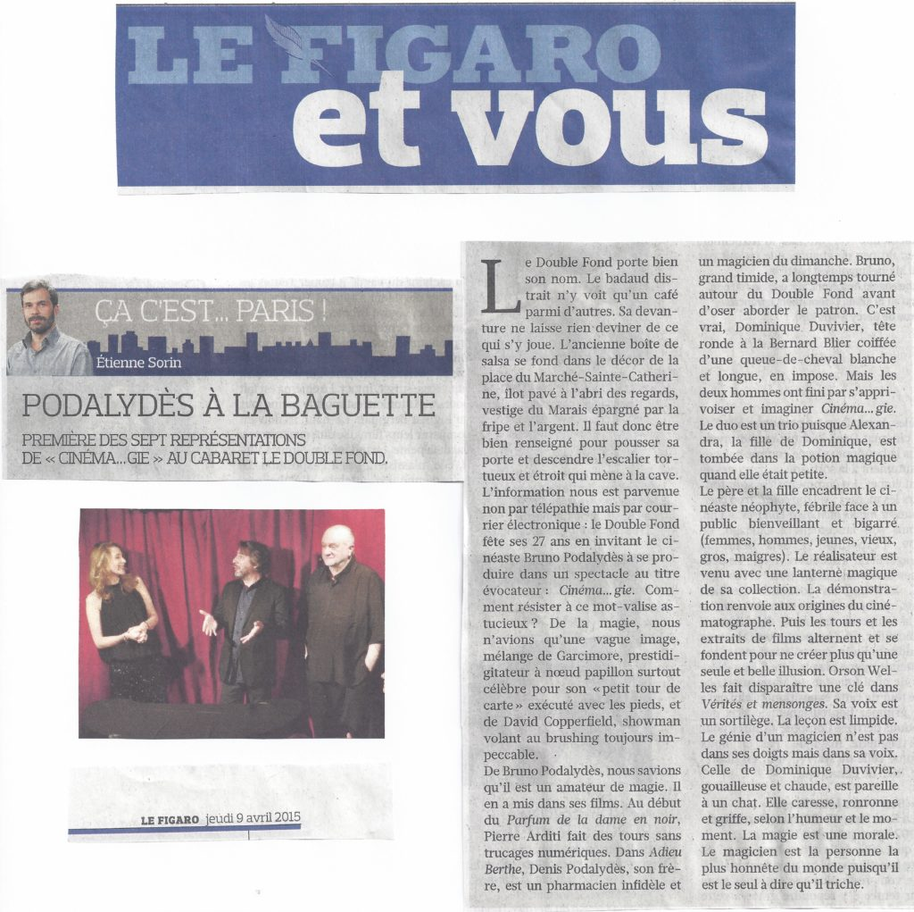 Figaro Cinema...gie avril 2015